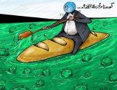 كاريكاتير صحيفة إماراتية.. كورونا وأزمة الغذاء