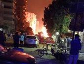 الحكومة: السيطرة على حريق ماسورة غاز حلمية الزيتون دون خسائر بشرية