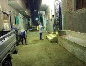 أهالى أوسيم بالجيزة يطهرون الشوارع ضد فيروس كورونا