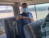 اتخاذ الإجراءات القانونية ضد سائقى الأجرة حال وجود راكب دون كمامة