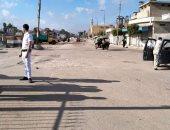 صور .. فض الباعة الجائلين بسوق مدينة المحمودية لمنع التكدس والتجمعات بالبحيرة