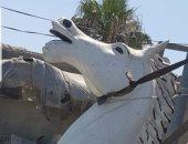 تعرف على مصير الحصان المستبدل بتمثال مجدى يعقوب فى أشهر ميادين الشرقية