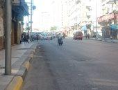 صور.. تحويلات مرورية لتقليل الكثافة بشوارع الإسكندرية