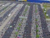 """موقف سيارات يتحول إلى """"ساحة لصلاة العيد"""" فى ألمانيا.. فيديو وصور"""