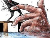 كاريكاتير صحيفة سعودية .. رئيس فنزويلا يحاول إنقاذ اقتصاد إيران من الغرق