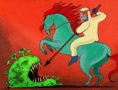 كاريكاتير صحيفة إماراتية.. الأطباء فرسان عصر كورونا