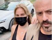 نيكول سابا ويوسف الخال فى أول ظهور خارج المنزل منذ العزل الصحى.. فيديو