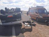 مصرع طالب فى حادث اصطدام سيارة ملاكى بأحد أعمدة الإنارة بدار السلام بسوهاج
