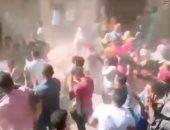 فيديو وصور.. ازدحام ودى جى فى عفش عروسة بقرية الدير بطوخ رغم تحذيرات كورونا
