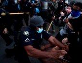 إصابة 2 من فريق رويترز برصاص مطاطى فى تفريق الشرطة للمحتجين بأمريكا