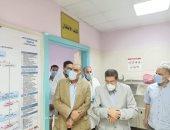 """رئيس هيئة التأمين الصحى يتفقد مستشفى """"بنها والنيل"""" لمتابعة التعامل مع كورونا"""