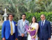 خطوبة نجل وكيل البرلمان على ابنة النائب أحمد فؤاد أباظة