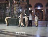 صور.. فتح أبواب المسجد النبوى استعدادًا لصلاة الفجر بعد إغلاق شهرين بسبب كورونا