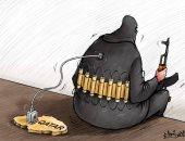 """كاريكاتير صحيفة إماراتية.. قطر هي الممول الرئيسي لـ""""التفجير والتكفير"""""""