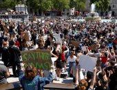 الاحتجاجات تعم لندن رفضا لتعامل الإدارة الأمريكية مع مقتل المواطن جورج فلويد