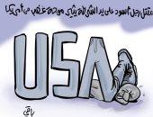 كاريكاتير صحيفة جزائرية.. مقتل رجل على يد شرطي يثير موجة غضب في أمريكا