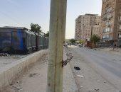 شكوى بسبب ظهور أسلاك الكهرباء من أعمدة الإنارة فى شارع السد العالى بمدينة نصر