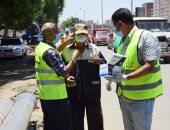 توزيع كمامات وتعقيم شوارع ومستشفيات.. حملة أبو العينين تواصل مجهوداتها لمكافحة كورونا