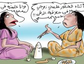 """كاركاتير صحيفة سعودية.. """" كورونا.. للحظر فوائد أخرى """""""