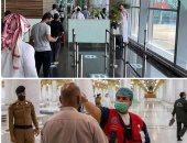 شاهد الصلاة الأولى فى المسجد النبوى بعد رفع القيود.. وتعليق الدخول للروضة