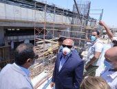 وزير النقل يتفقد أعمال مشروع القطار الكهربائى السلام العاصمة الإدارية ـ صور