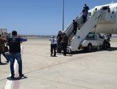 مطار مرسى علم يستقبل رحلة مصريين عالقين من مطار جدة تقل 163 راكبا