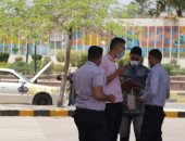 صور.. رئيس جامعة كفر الشيخ يشيد بالالتزام بارتداء الكمامات فى الحرم الجامعى