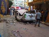 حالتا وفاة و4 مصابين فى حادثة انهيار شرفة منزل بشرق الإسكندرية