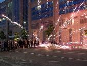 اندلاع مناوشات وأعمال عنف بين المتظاهرين فى واشنطن