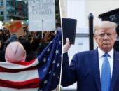 """ترامب يهاجم تظاهرات فلويد.. يؤكد لـ""""فوكس نيوز"""": بعض المشاركين لا يعرفون سبب تواجدهم"""