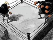 كاريكاتير صحيفة سعودية.. ترامب يواجه شبح السوشيال ميديا