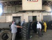 الحملة الميكانيكية تنتهى من صيانة معدات النظافة بالزقازيق