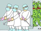 شاهد .. الثقافى الصينى ينشر 10 أعمال كاريكاتيرية فائزة عن فيروس كورونا
