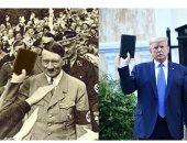 طلعت مفبركة.. تويتر يتخذ إجراء بشأن صورة تجمع بين ترامب وهتلر