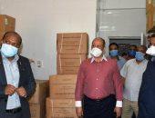 لجنة من محافظة أسوان تتفقد مستشفيات العزل وتتابع توافر المستلزمات والأوكسجين
