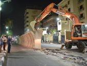 """""""الأقصر"""": رفع الحواجز الخرسانية وتوسعة الشارع المواجه لمدرسة أبو الحجاج"""