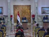 بث مباشر ..مؤتمر صحفى للسيسى وقائد الجيش الليبى خليفة حفتر بقصر الاتحادية