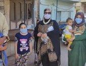 """تضامن بنى سويف : توزيع الكمامات على المنازل بمبادرة"""" كمامتك هتوصلك الحد البيت"""""""