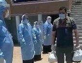 ممر شرفى وزغايد.. مستشفى السعديين فى الشرقية تحتفل بشفاء مرضى كورونا