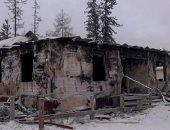 مصرع 4 أطفال ووالدهم فى حريق منزلهم بسيبيريا.. اعرف التفاصيل