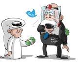 كاريكاتير صحيفة سعودية.. حسابات مشبوهة لنشر الشائعات بمقابل مادي