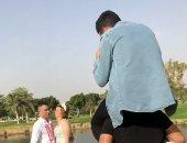 كواليس فوتوسيشن خطوبة حسن شاكوش بأحد فنادق القاهرة.. فيديو وصور