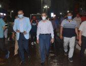 محافظ الغربية يتابع أعمال التطهير بطنطا ويشدد على تكثيف أعمال النظافة بالشوارع