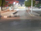 بعد مرور 8 سنوات.. فتح الشوارع المغلقة بمدينة كفر الشيخ ليلاً