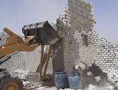 صور.. إزالة 22 حالة تعدٍ على الأراضى الزراعية ومخالفات البناء بسوهاج