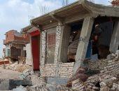 """أهالى قرية """"الديسمى"""" بالجيزة يناشدون بناء منازلهم المتضررة بسبب السيول"""