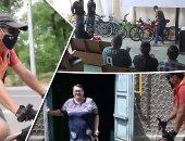 """""""كلنا ايد واحدة"""".. العمل التطوعى يهزم كورونا فى عدة دول.. متطوعون بكازاخستان يوصلون الأدوية للمسنين.. مدينة برتغالية تصنع كمامات لتلبية احتياجات الفقراء.. ومنظمتان توزعان دراجات على عاملى الصحة فى المكسيك"""