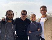 """أحمد الفيشاوى وياسمين رئيس فى صورة من آخر يوم تصوير فيلم """"الحارث"""""""