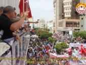 """تجمع حاشد بصفاقس التونسية ورفع شعارات ضد الغنوشي تصفىه بـ""""السفاح"""""""