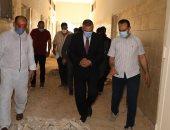 صور.. جولة محافظ سوهاج بمستشفى الصدر بجزيرة شندويل لمتابعة تطبيق الإجراءات الوقائية